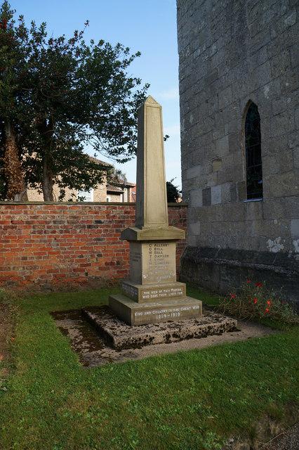 War Memorial, Great Ouseburn