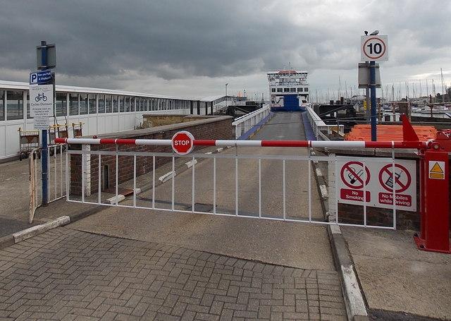 Wightlink Ferry at Lymington
