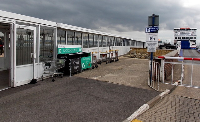 Wightlink recycling centre at Lymington Pier