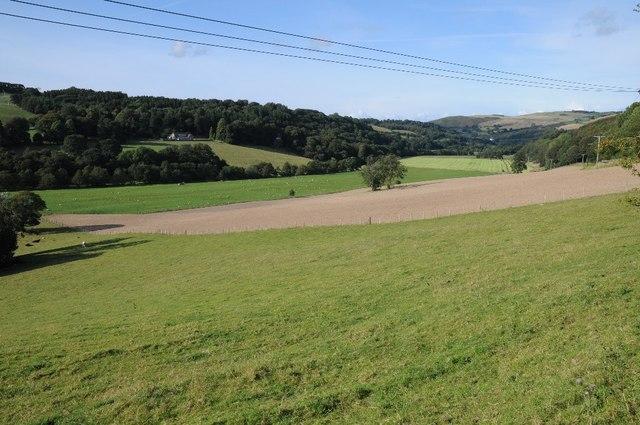 Farmland near Plas Newydd