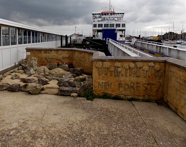 Rock garden artwork, Lymington Pier