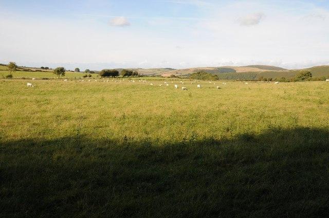 Farmland to the east of Llansannan