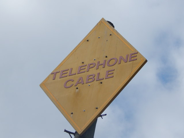 Telephone cable sign