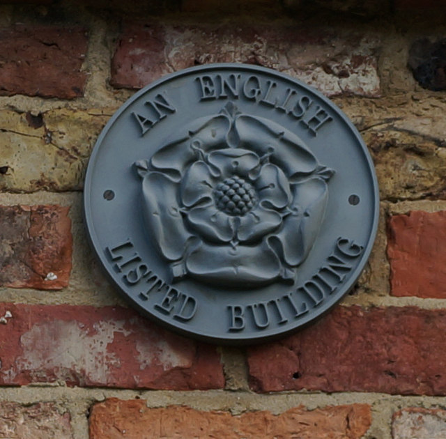 English Listed Building Plaque