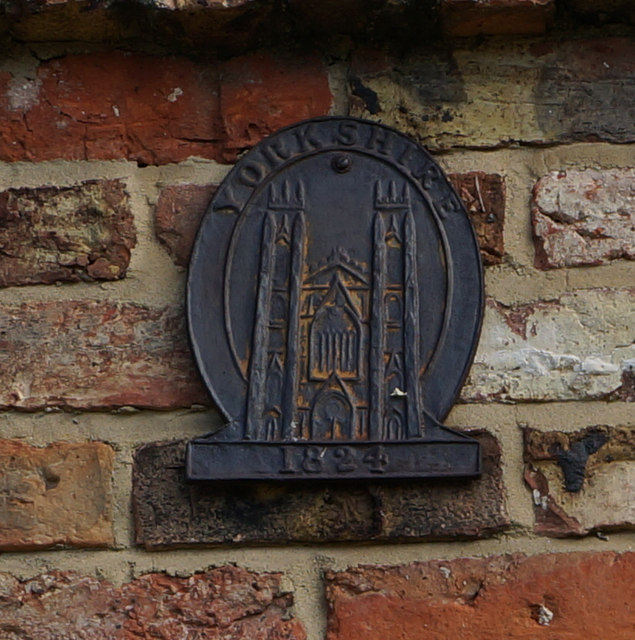 Yorkshire 1824 Plaque, Well Farm, Great Ouseburn