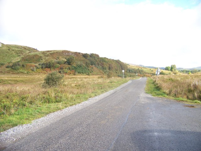 Unclassified road, looking north at Cluny Villa turn-off