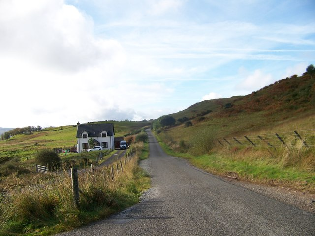 Minor road from Connel to Kilmore