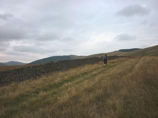 The track towards Mabbin Crag
