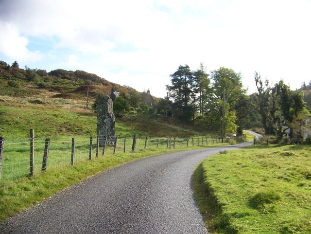 Standing stone beside the minor road from Kilmore to Taynuilt