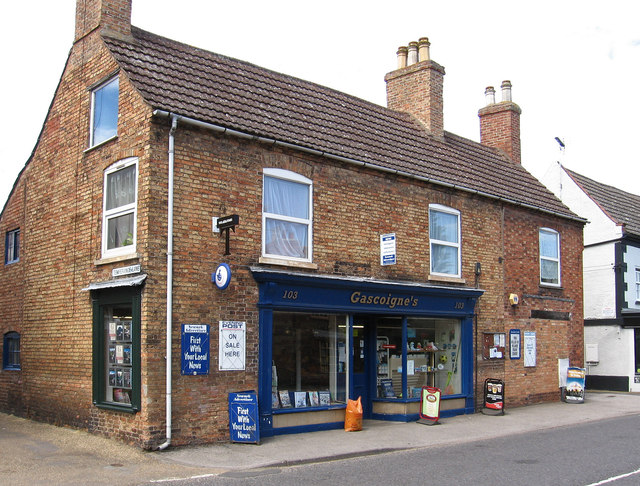 Collingham - newspaper shop on High Street (No 103)