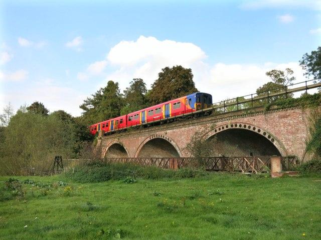 Train Crossing The Mole