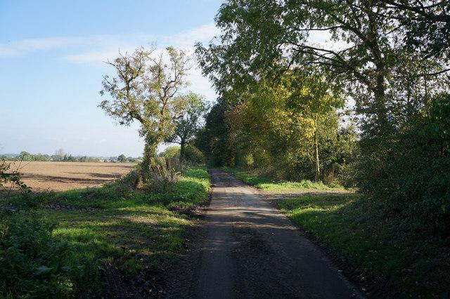 Church Field Lane towards Cross Lane