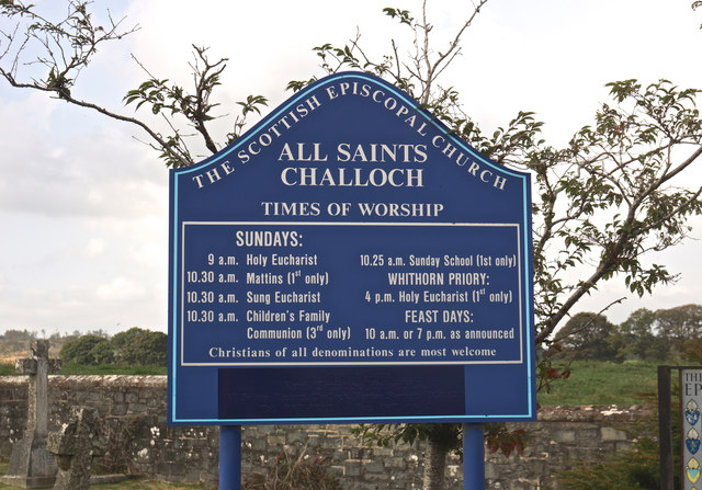 Church noticeboard, Challoch