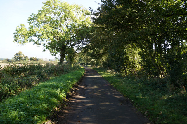Church Field Lane towards Cross Lane