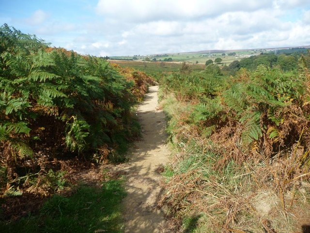 Public footpath to Howden Wood, Baildon Moor