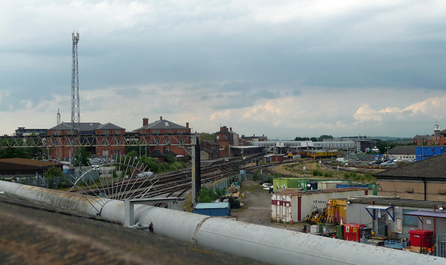 Railway near London Road, Derby