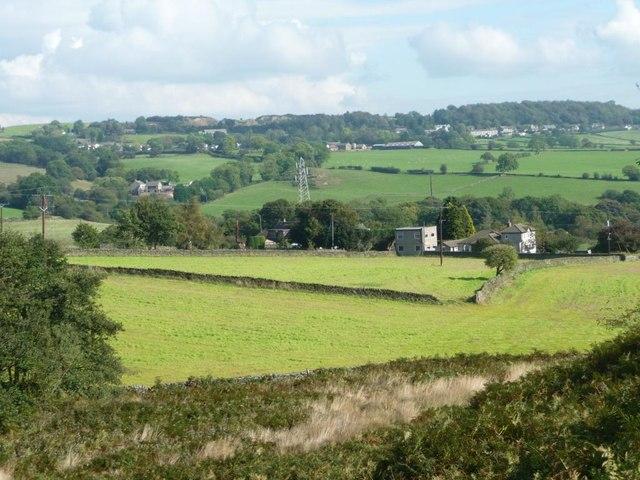 Fields at the edge of Baildon Moor