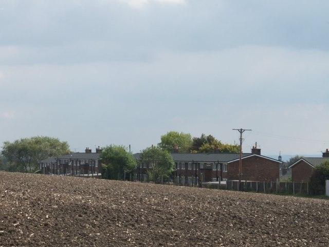 Rear of flats on Oakley Avenue, Billinge