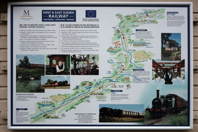 Information Panel for the Kent & East Sussex Railway