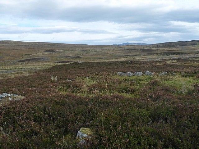 Hut circle above the Allt na Lùibe, Sutherland