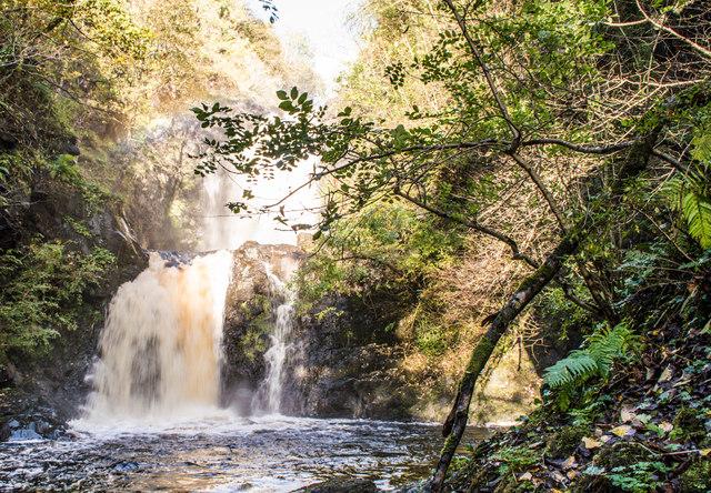 Falls of Rha in spate