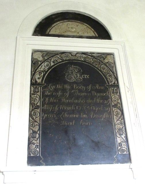 Memorial - Sutton Montis Church