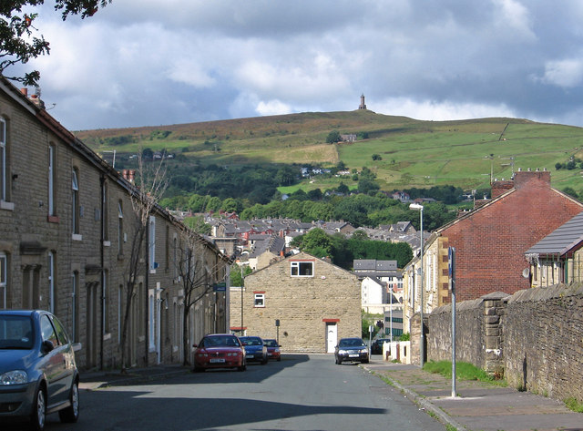 Darwen - view down Philip Street