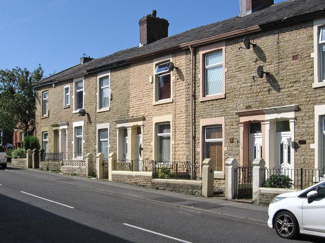 Darwen - houses on west side of Highfield Road