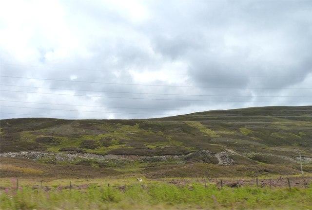 Scarred moorland