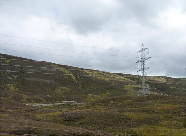 Moorland power line