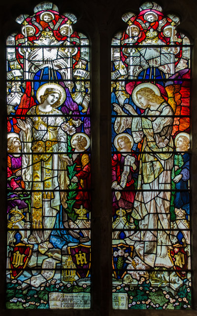 Stained glass window, St Denys church, Rotherfield