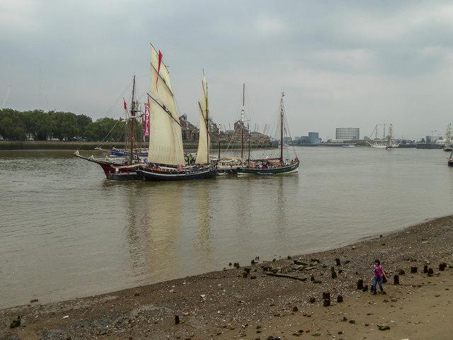 Tall Ships at Greenwich, London