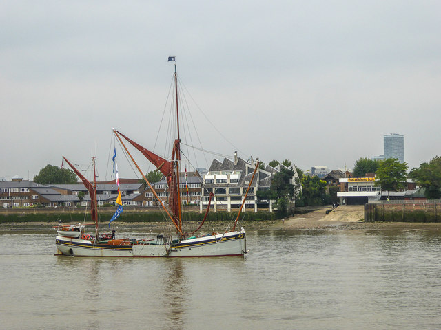 Thames Barge at Greenwich, London