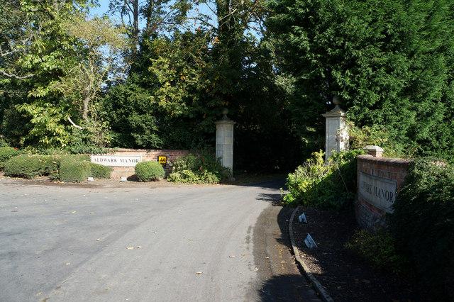 Entrance to Aldwark Manor Hotel
