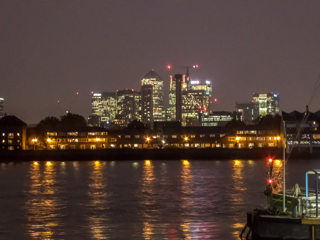 Canary Wharf from Greenwich, London