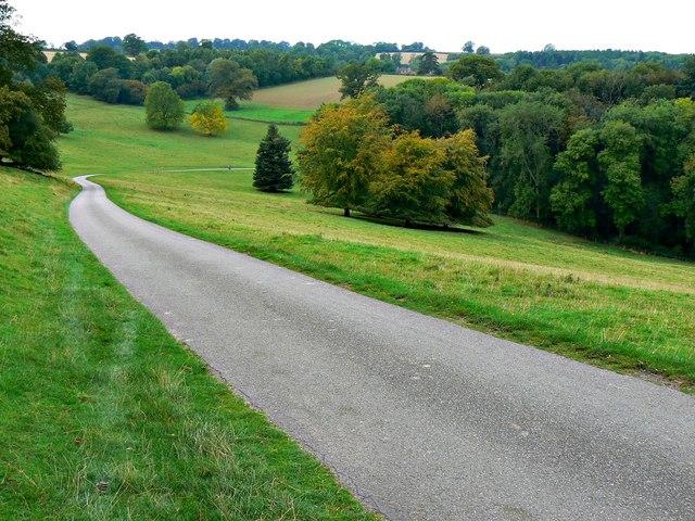 Road through Brockhampton Estate, Herefordshire