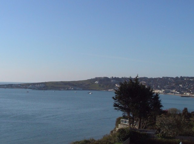 View across Swanage Bay to Peveril Point