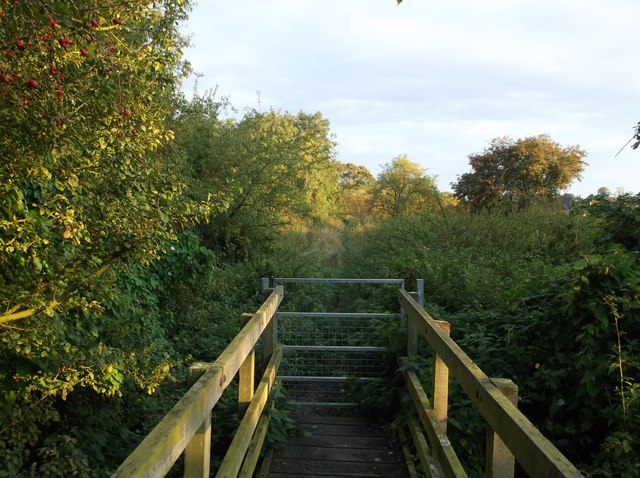 Footbridge on field path, Colne to Somersham, Hunts