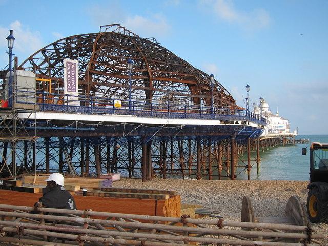 Eastbourne Pier arcade remains