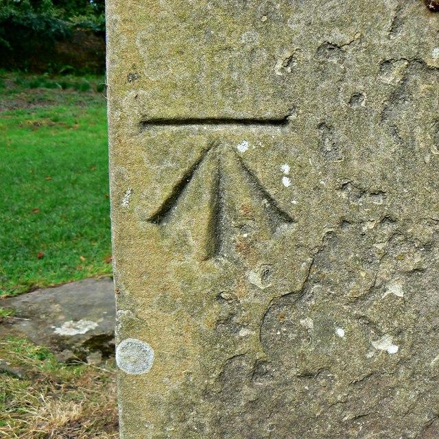 Ordnance Survey benchmark, Brockhampton Chapel, Herefordshire