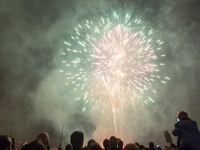 Firework Display, Tall Ships Festival 2014, Greenwich, London
