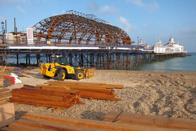 Eastbourne Pier during floor repair
