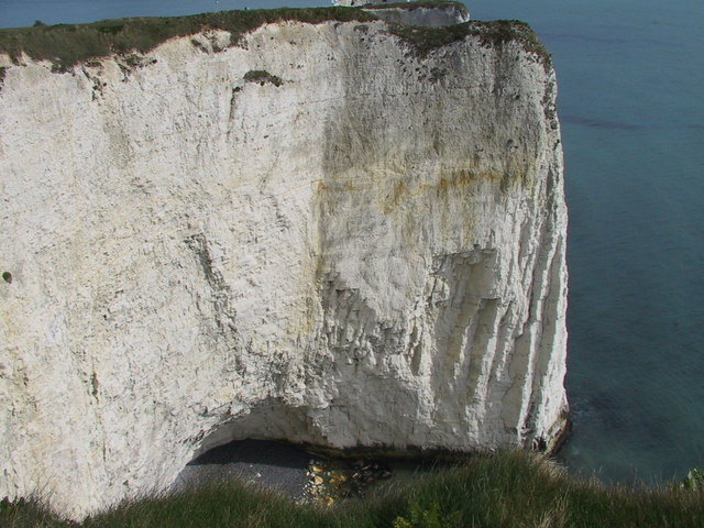 White cliff and sea cave