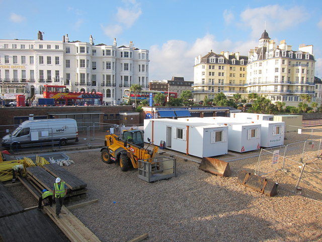 Contractor Cabins for Eastbourne Pier repairs