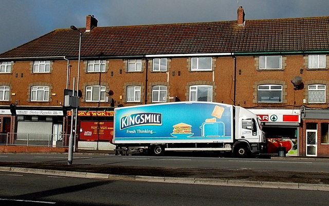Kingsmill bread delivery lorry in Malpas, Newport