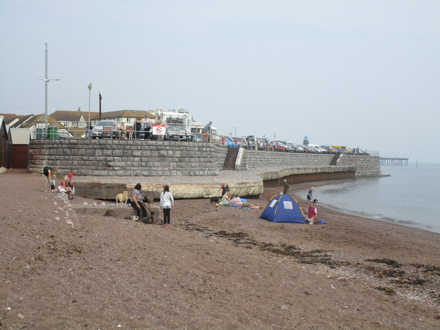 Sea wall at the point