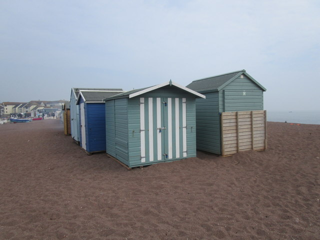 Beach huts at The Point