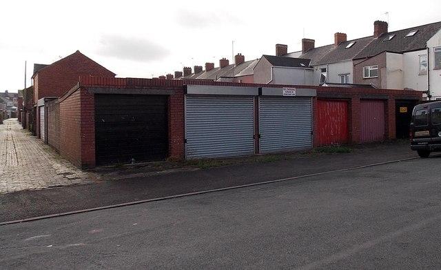 Pant Road lockup garages, Crindau, Newport