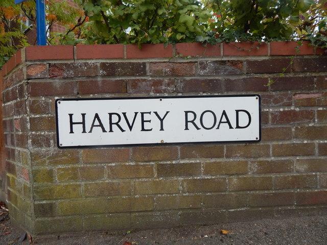 Harvey Road sign