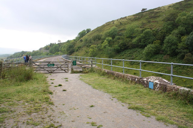 Trackbed of dismantled railway over Smardalegill Viaduct